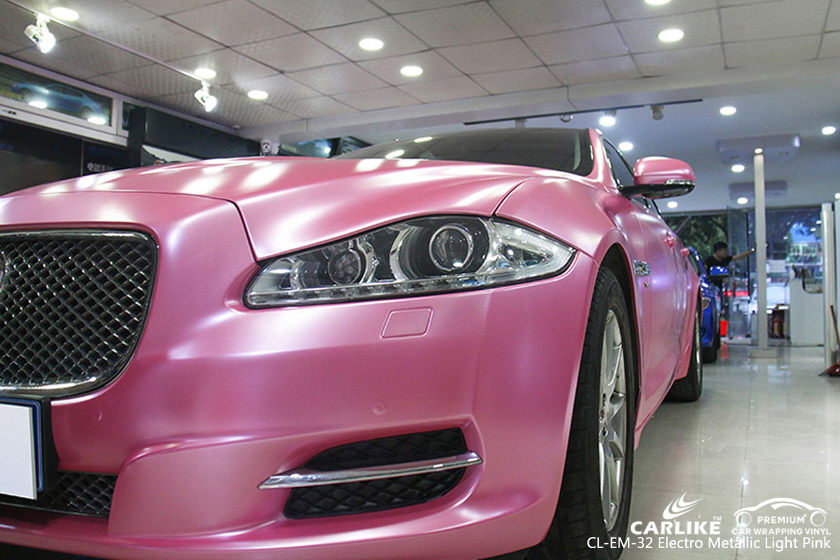 CARLIKE CL-EM-32 electro metallic light pink car wrap vinyl for Jaguar