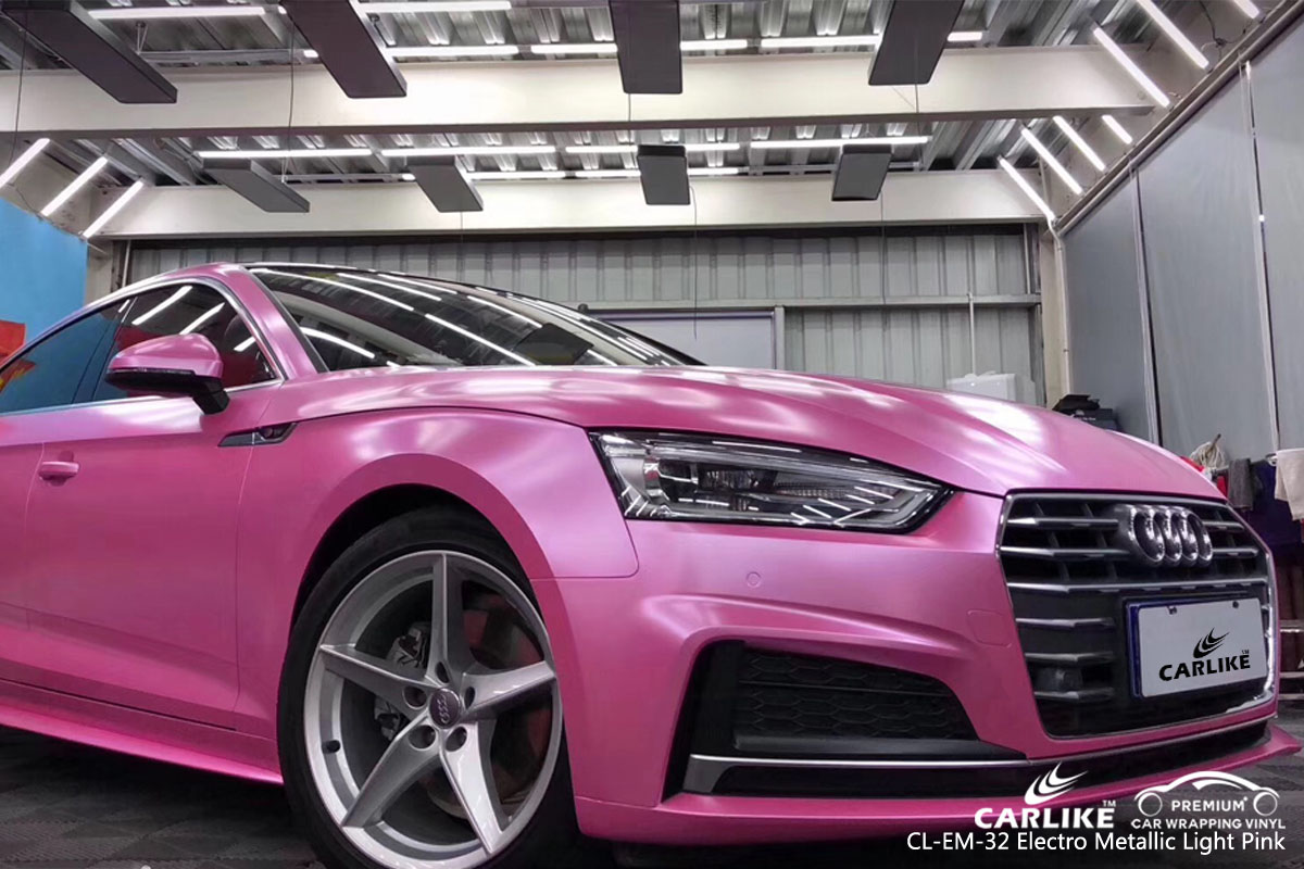 CARLIKE CL-EM-32 electro metallic light pink car wrap vinyl for Audi