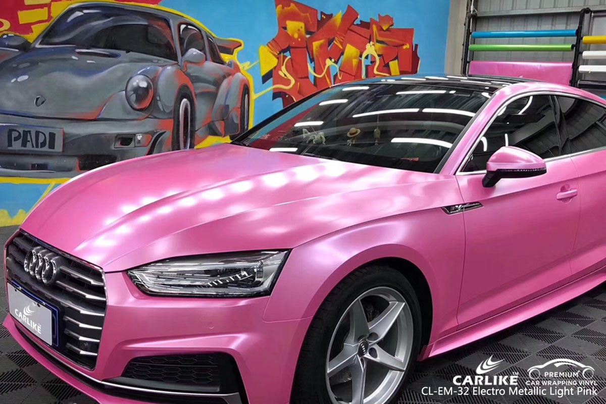 CARLIKE CL-EM-32 electro metallic light pink car wrap vinyl for Audi