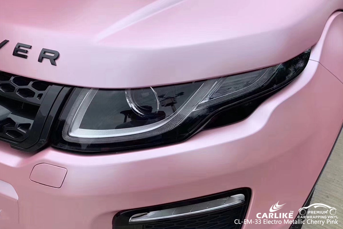 CARLIKE CL-EM-33 electro metallic cherry pink car wrap vinyl for Land Rover