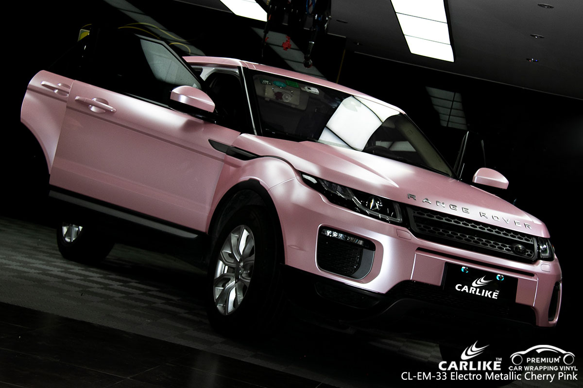 CARLIKE CL-EM-33 electro metallic cherry pink car wrap vinyl for Land Rover