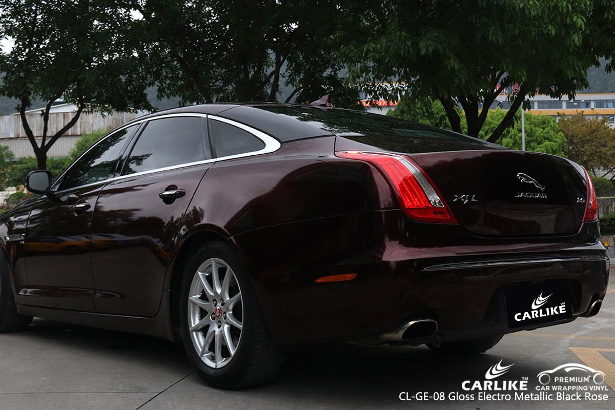 CARLIKE CL-GE-08 gloss electro metallic black rose car wrap vinyl for Jaguar