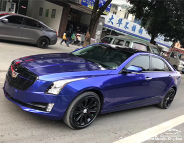 CARLIKE CL-GE-26 vinile lucido metallizzato re blu per auto per Cadillac