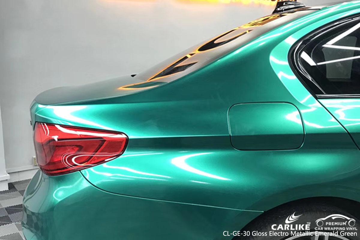 CARLIKE CL-GE-30 gloss electro metallic emerald green car wrap vinyl for BMW