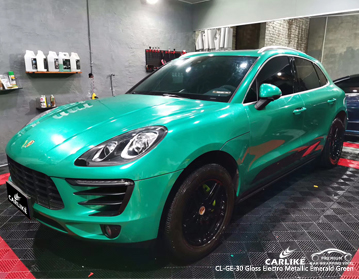 CARLIKE CL-GE-30 gloss electro metallic emerald green car wrap vinyl for Porsche