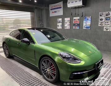 CARLIKE CL-GE-31 vinil verde metálico do envoltório do carro do eletro do brilho para BMW