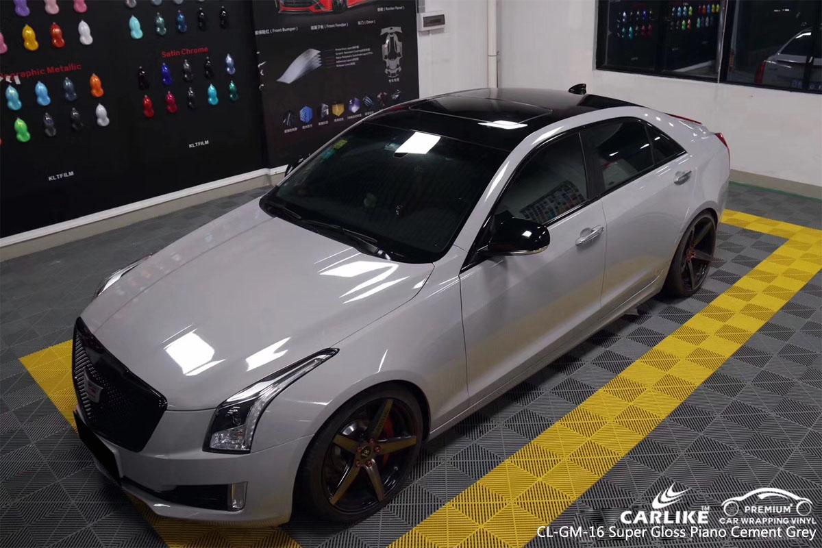 Carlike Cl Gm 16 Super Gloss Piano Cement Grey Car Wrap
