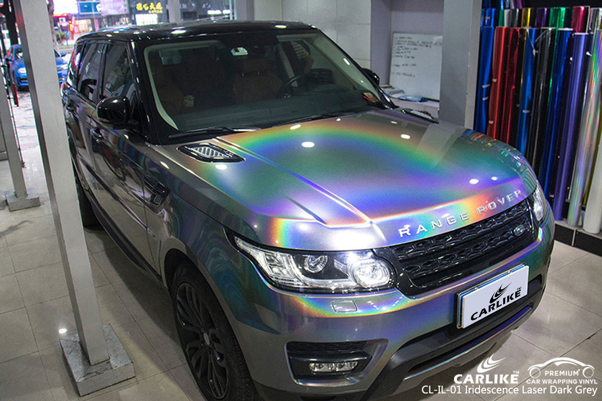 CARLIKE CL-IL-01 iridescence laser dark grey car wrap vinyl for Land Rover
