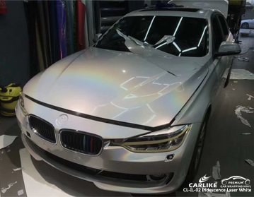 CARLIKE CL-IL-02 voiture d'emballage laser laser blanc iridescence pour BMW