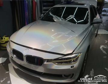 CARLIKE CL-IL-02 vinile bianco per auto con iridescenza laser bianco per BMW