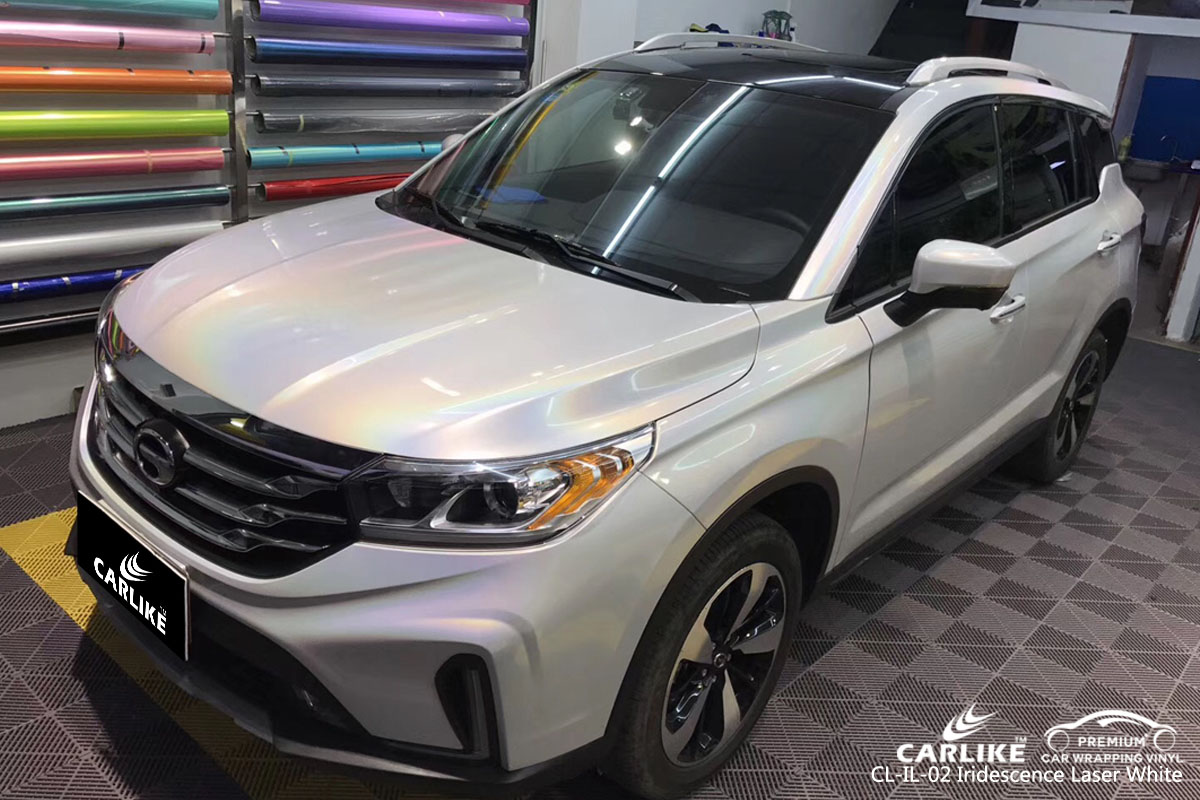 CARLIKE CL-IL-02 iridescence laser white car wrap vinyl for Trumpchi