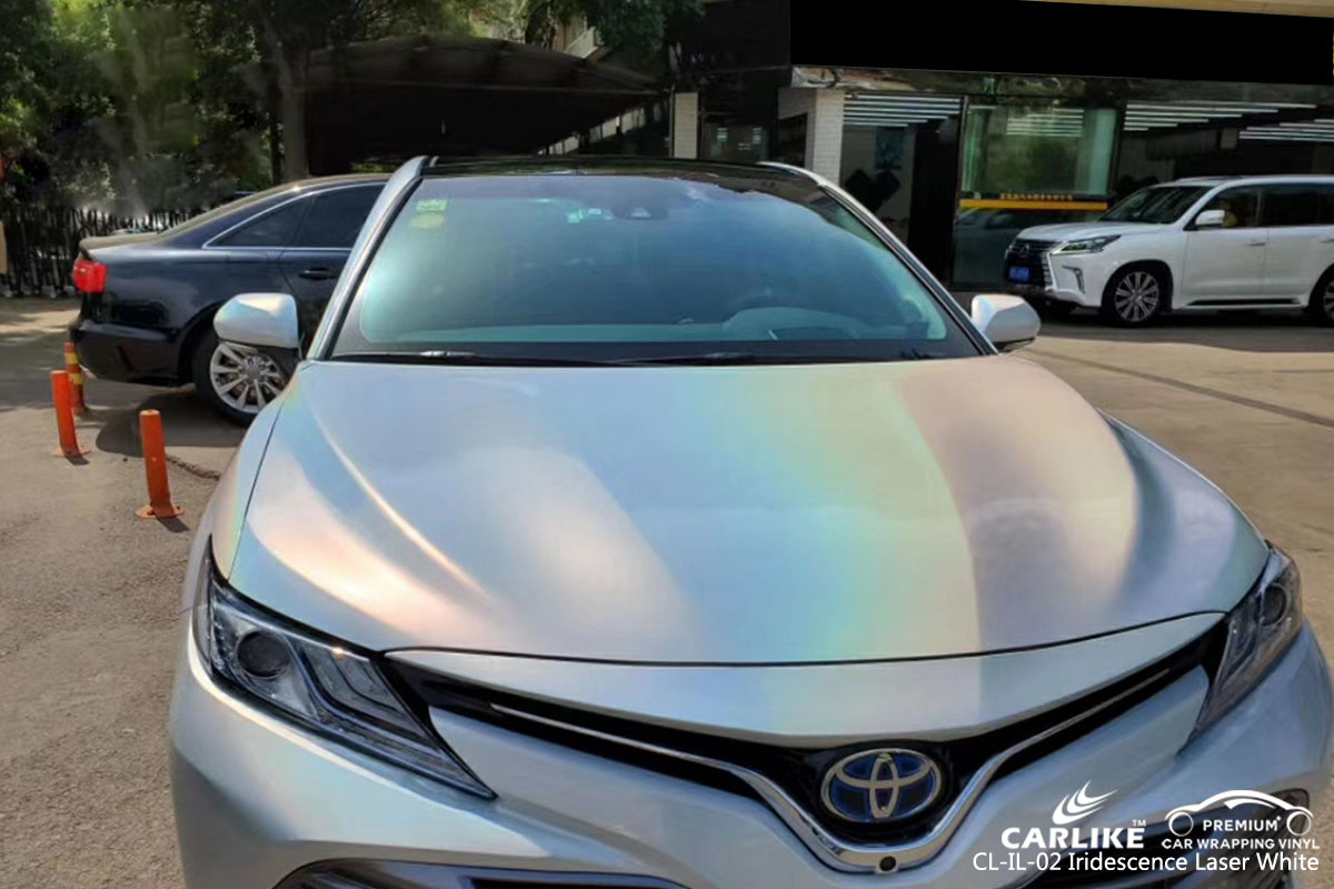 CARLIKE CL-IL-02 iridescence laser white car wrapping vinyl for Toyota