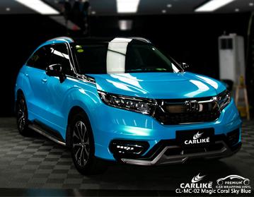 CARLIKE CL-MC-02 vinil coral do envoltório do carro do azul de céu azul para Honda