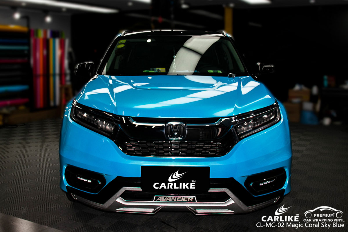 CARLIKE CL-MC-02 magic coral sky blue car wrap vinyl for Honda