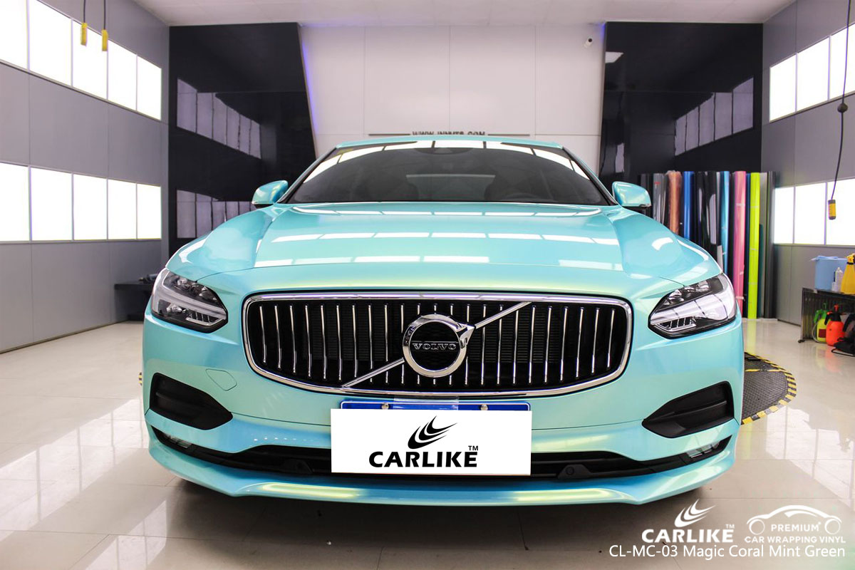CARLIKE CL-MC-03 magic coral mint green car wrap vinyl for Volvo