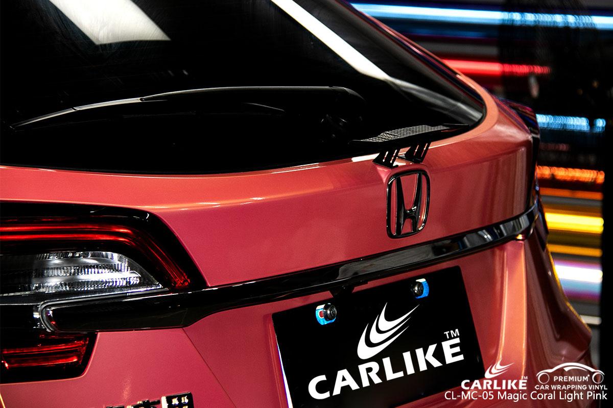 CARLIKE CL-MC-05 magic coral light pink car wrap vinyl for Honda
