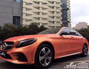 CARLIKE CL-MC-05 vinil cor-de-rosa coral mágico do envoltório do carro do rosa para Mercedes-Benz