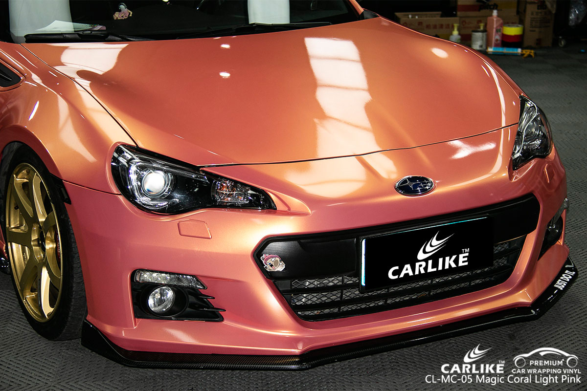 CARLIKE CL-MC-05 magic coral light pink car wrap vinyl for Subaru