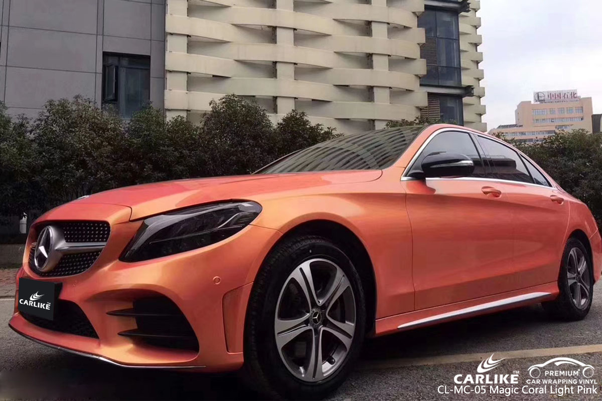 CARLIKE CL-MC-05 magic coral light pink car wrap vinyl for Mercedes-Benz