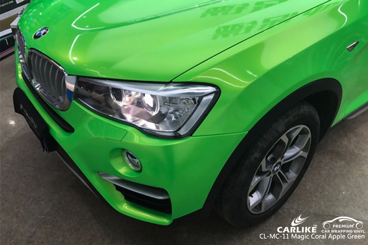 CARLIKE CL-MC-11 magic coral apple green car wrap vinyl for BMW