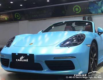 CARLIKE CL-ME-01 eletro mágica luz azul céu carro envoltório de vinil para a Ferrari