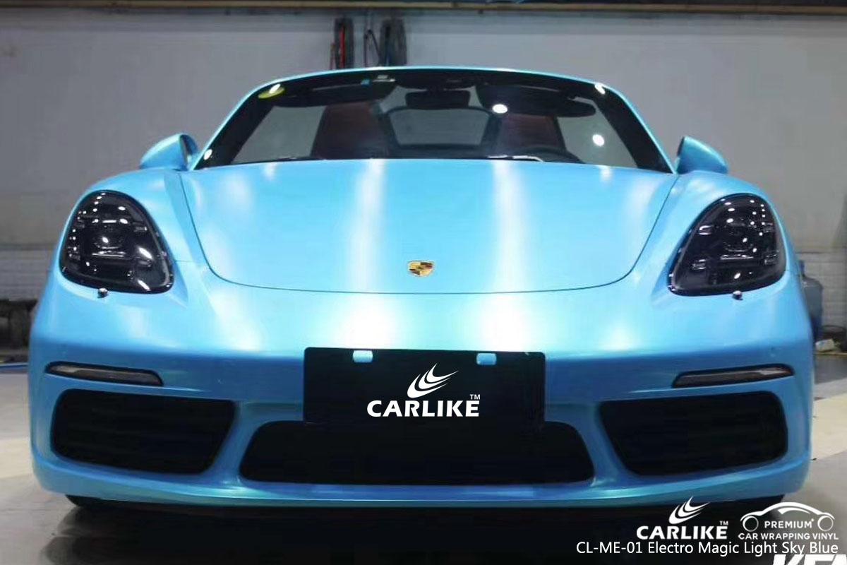 CARLIKE CL-ME-01 electro magic light sky blue car wrap vinyl for Ferrari