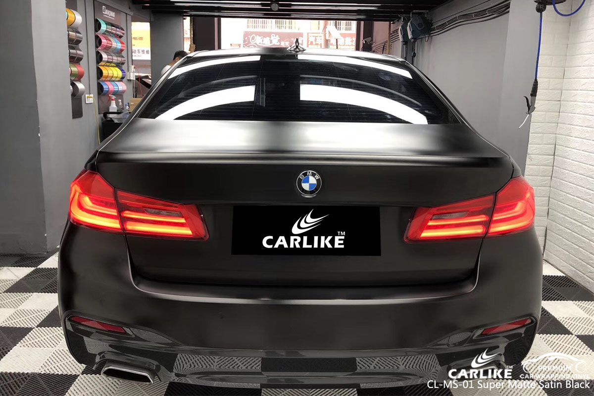 CARLIKE CL-MS-01 super matte satin black car wrap vinyl for BMW
