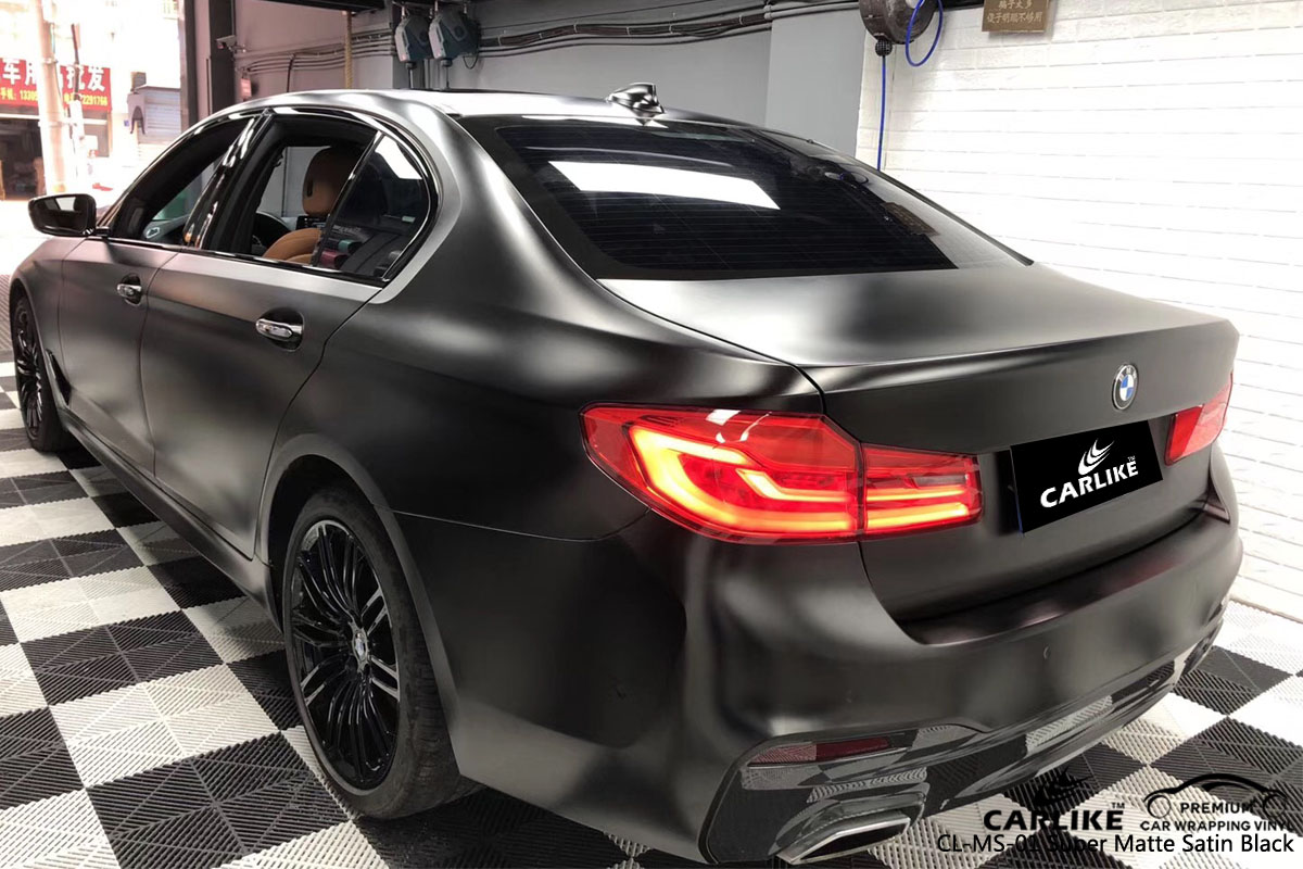 CARLIKE CL-MS-01 super matte satin black car wrap vinyl for BMW