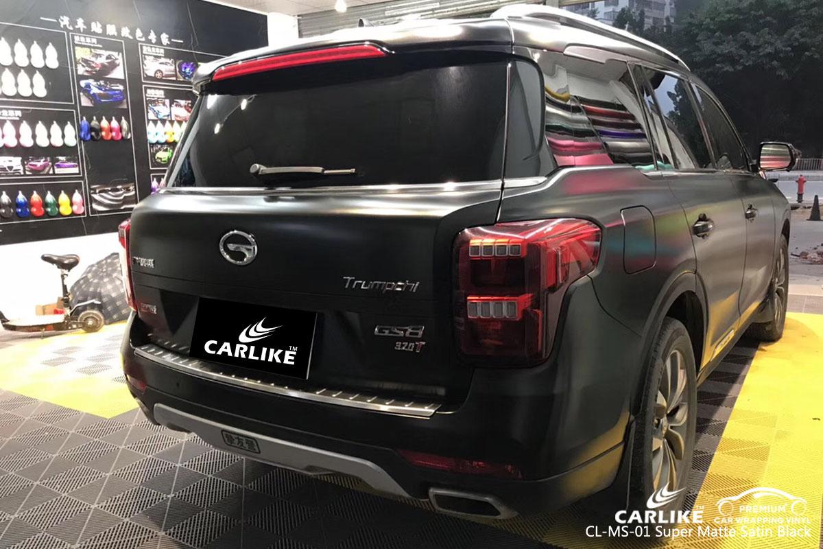 CARLIKE CL-MS-01 super matte satin black car wrap vinyl for Trumpchi