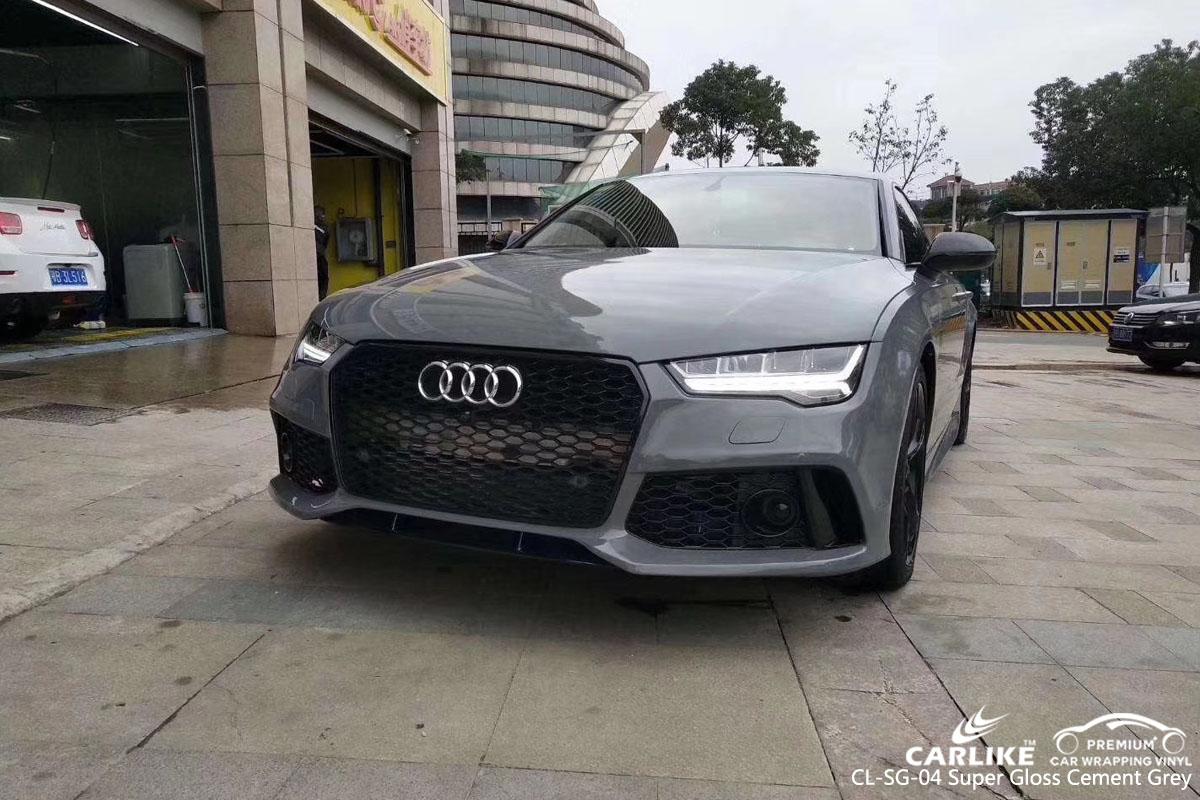 CARLIKE CL-SG-04 super gloss cement grey car wrap vinyl for Audi