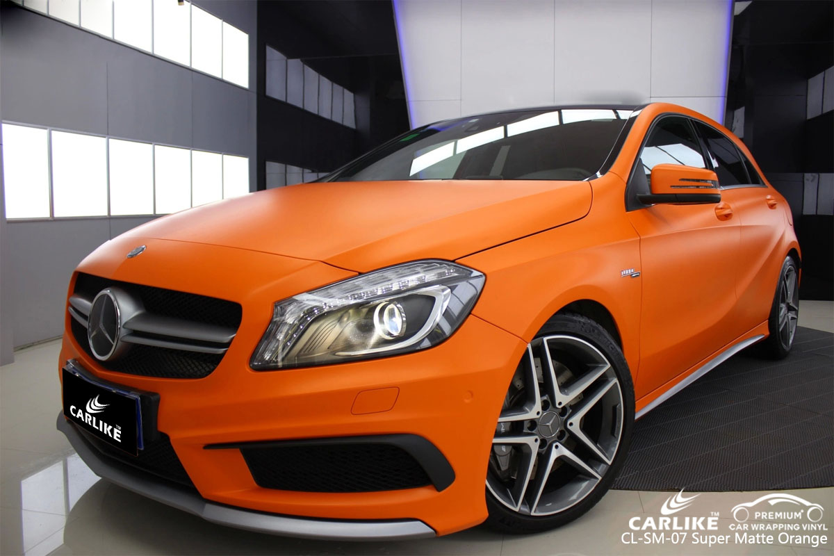 CARLIKE CL-SM-07 super matte orange car wrap vinyl for Mercedes-Benz