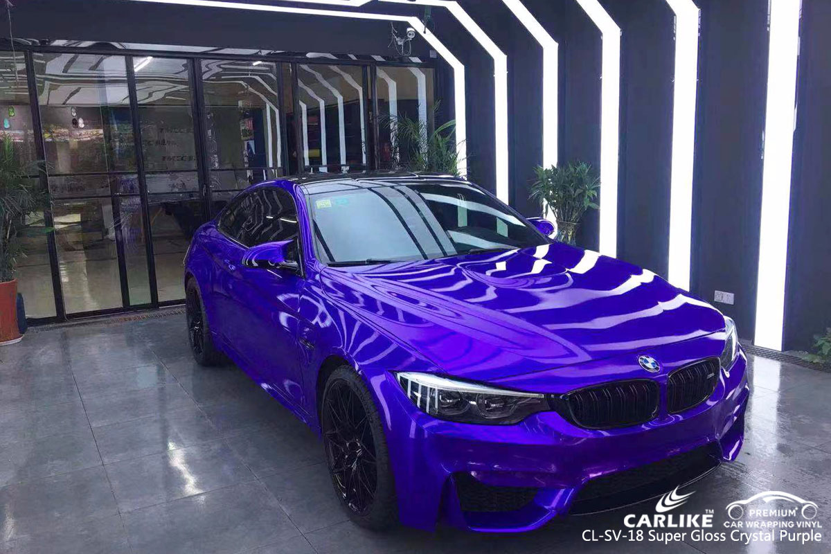 CARLIKE CL-SV-18 super gloss crystal purple car wrapping vinyl for BMW