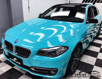 CARLIKE CL-SV-20 super gloss crystal ice blue car wrap vinyl for BMW