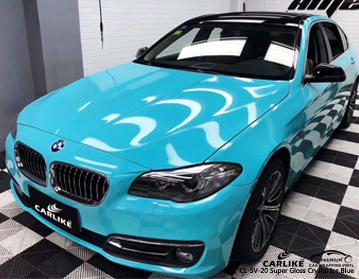 CARLIKE CL-SV-20 vinilo azul marino del coche del hielo del lustre brillante estupendo para BMW
