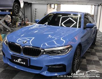 CARLIKE CL-SV-23 vinile auto super lucido blu turchese di cristallo per BMW