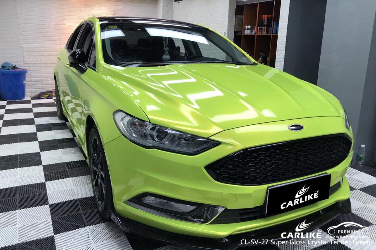 CARLIKE CL-SV-27 super gloss crystal tender green car wrap vinyl for Ford