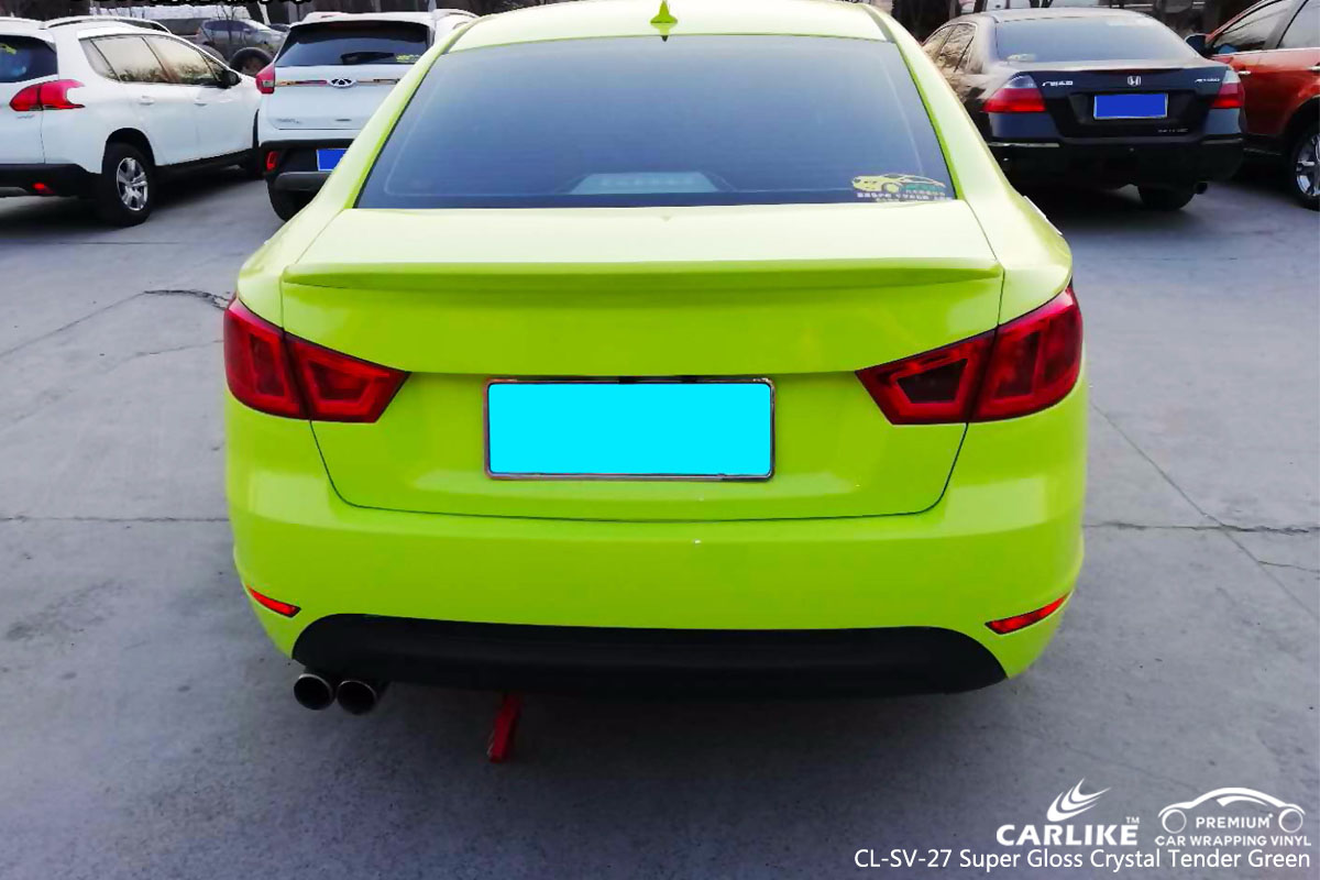 CARLIKE CL-SV-27 super gloss crystal tender green car wrap vinyl for Baic
