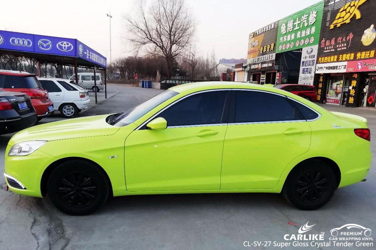 CARLIKE CL-SV-27 super gloss crystal tender green car wrap vinyl for Baic