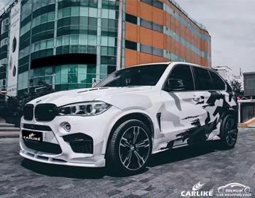 CARLIKE CL-BS-02 طبعت قنبلة ملصق سيارة التفاف الفينيل لسيارات BMW