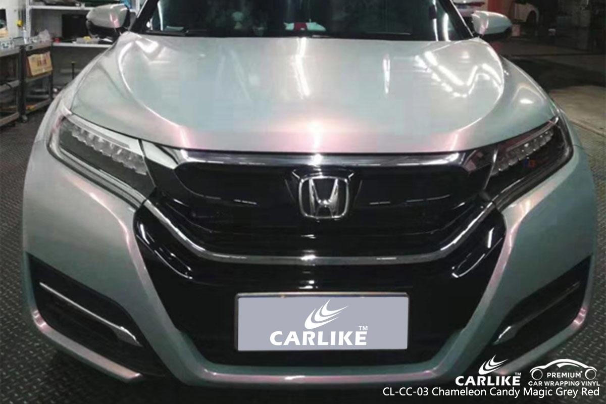 CARLIKE CL-CC-03 chameleon candy magic grey red car wrap vinyl for Honda