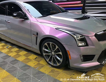 CARLIKE CL-CC-05 Camaleón caramelo mágico gris púrpura vinilo del abrigo del coche para Cadillac