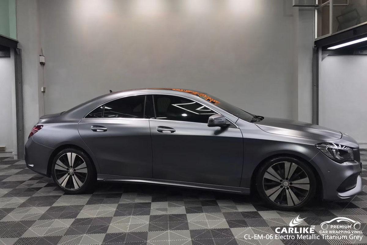 CARLIKE CL-EM-06 electro metallic titanium grey car wrap vinyl for Mercedes-Benz