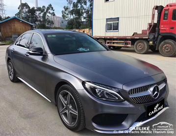 CARLIKE CL-EM-06 Vinilo para automóvil electro metalizado gris titanio para Mercedes-Benz