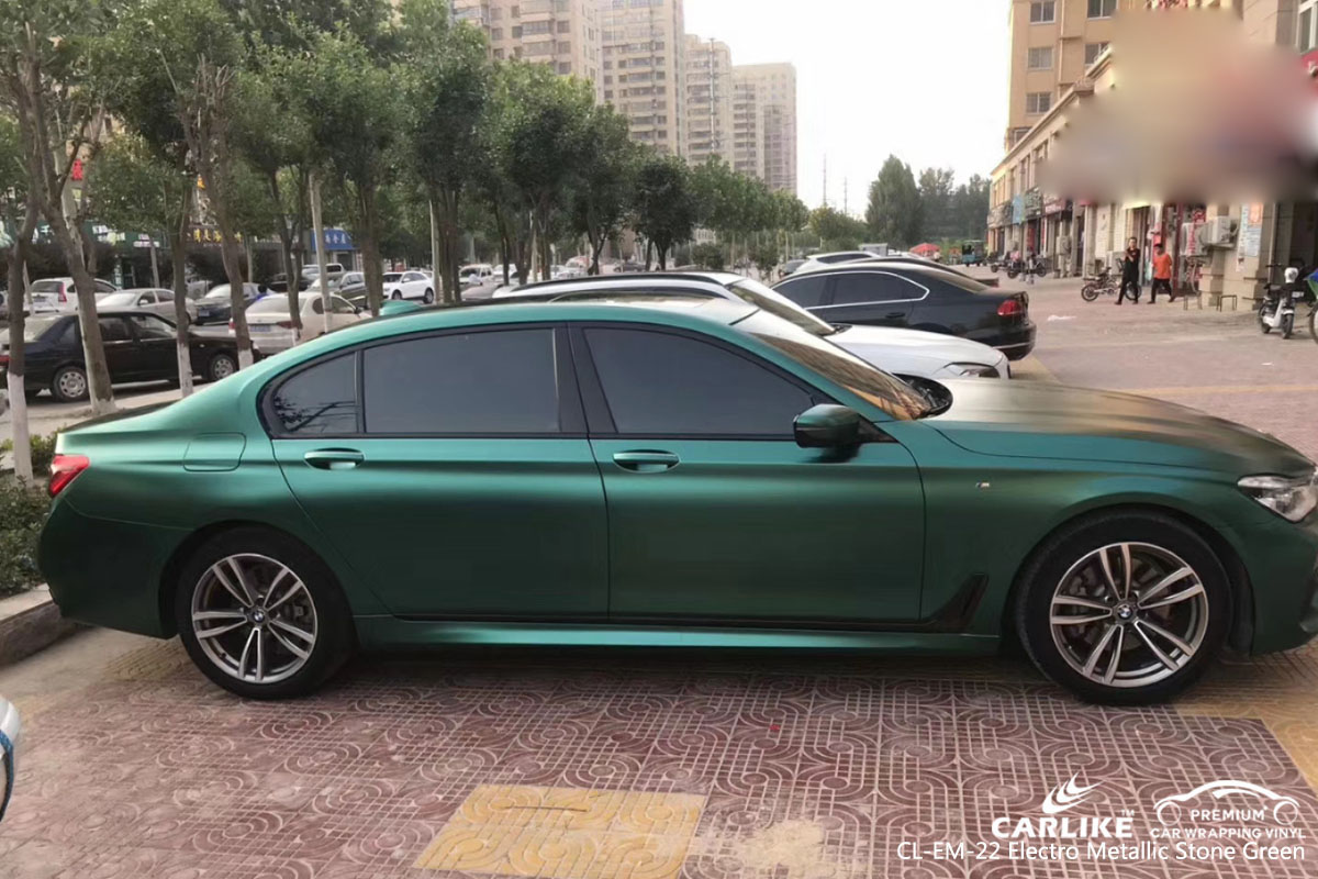 CARLIKE CL-EM-22 electro metallic stone green car wrap vinyl for BMW