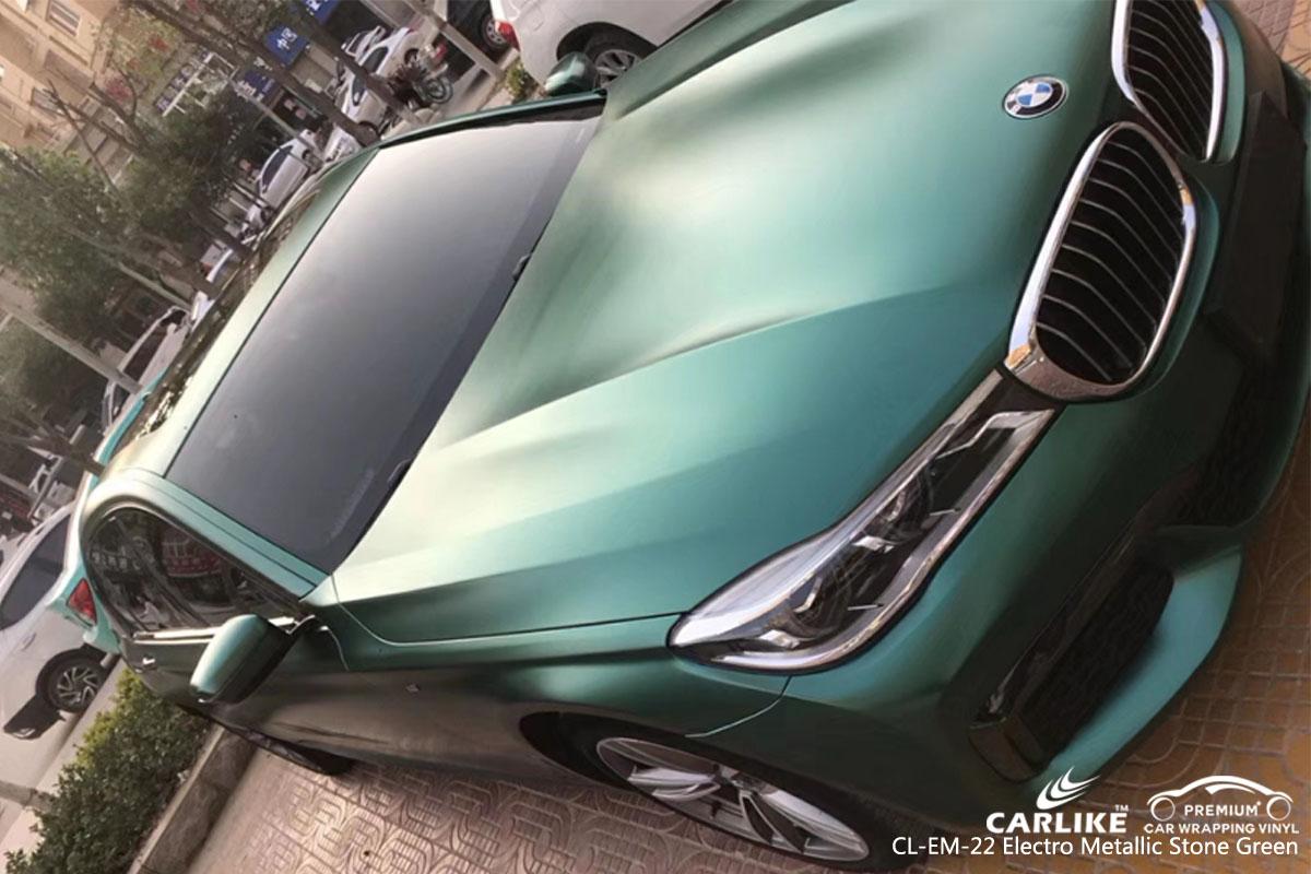 CARLIKE CL-EM-22 electro metallic stone green car wrap vinyl for BMW