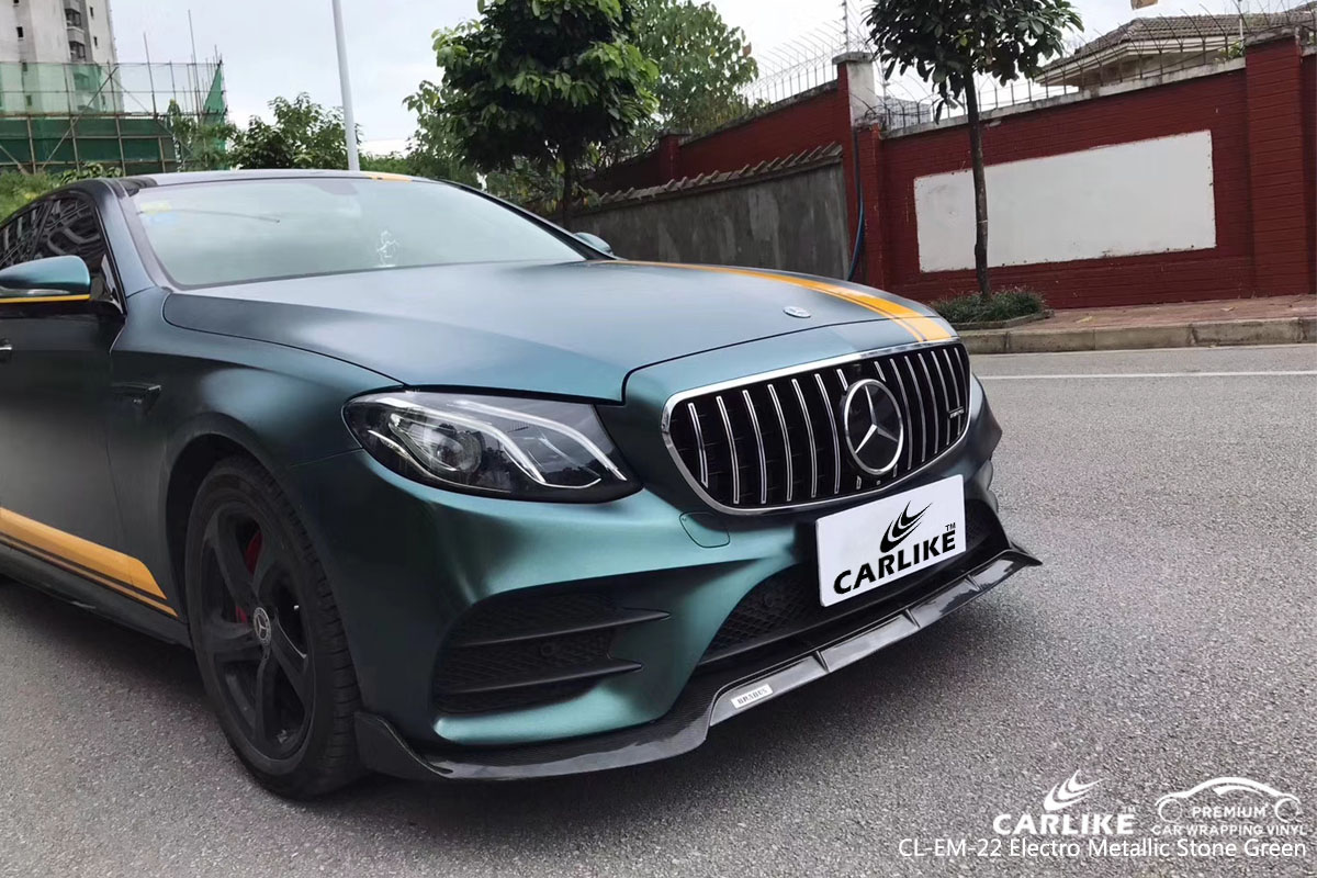 CARLIKE CL-EM-22 electro metallic stone green car wrap vinyl for Mercedes-Benz