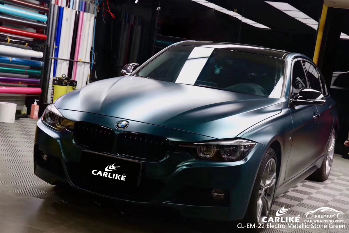 CARLIKE CL-EM-22 electro metallic stone green car wrap vinyl for Mercedes-Benz