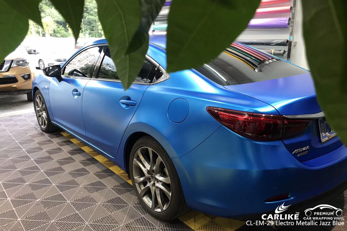 CARLIKE CL-EM-29 electro metallic jazz blue car wrap vinyl for Mazda
