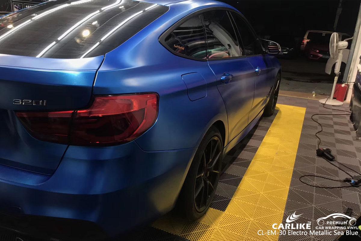 CARLIKE CL-EM-30 electro metallic sea blue car wrap vinyl for BMW