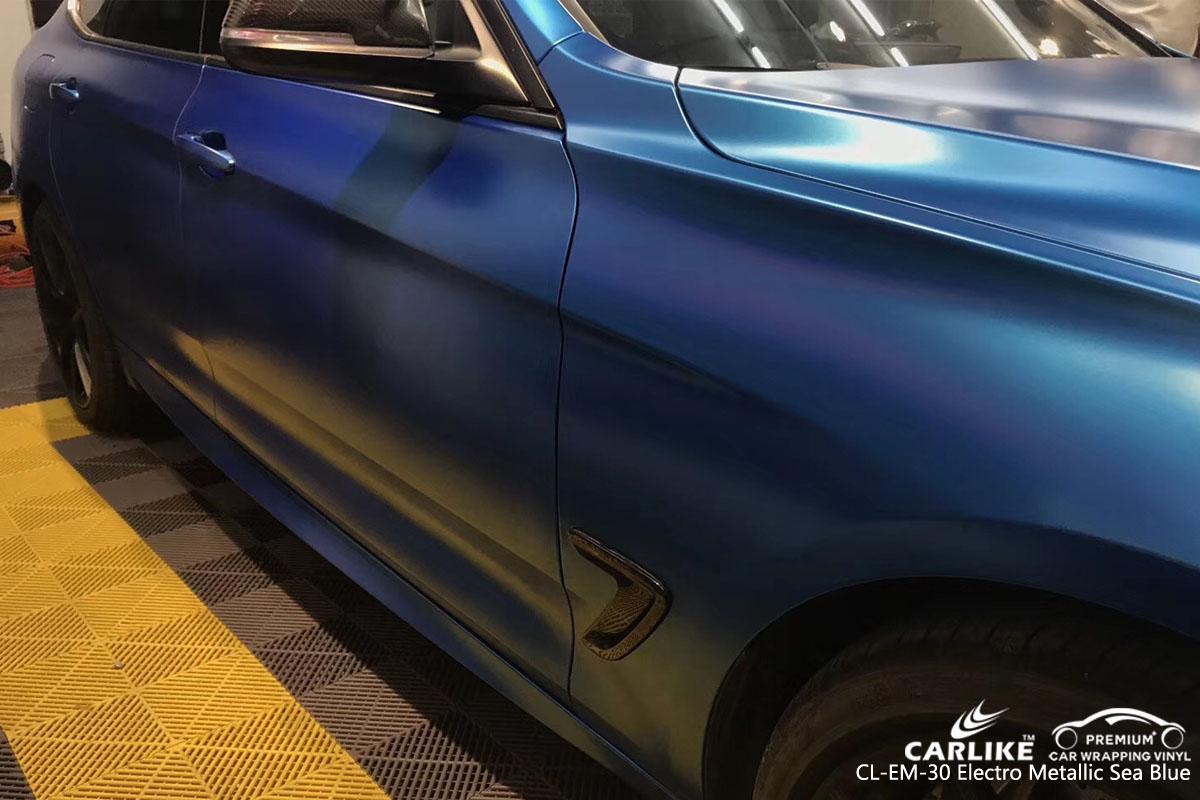 CARLIKE CL-EM-30 Electro Metallic Sea Blue Car Wrap Vinyl